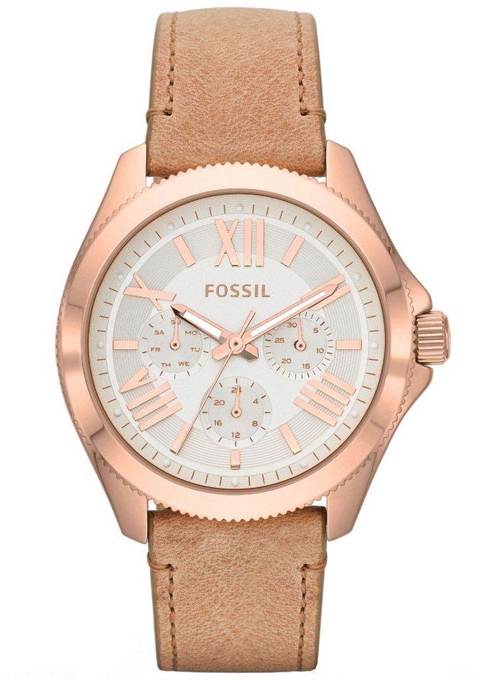 """Fossil, Multifunktionsuhr, """"CECILE, AM4532"""" in sandfarben-roségoldfarben"""