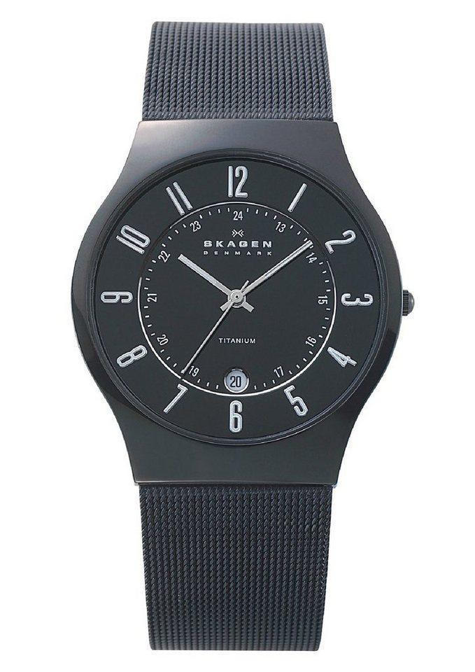 "Skagen, Armbanduhr, ""GRENEN, 233XLTMB"" in schwarz"