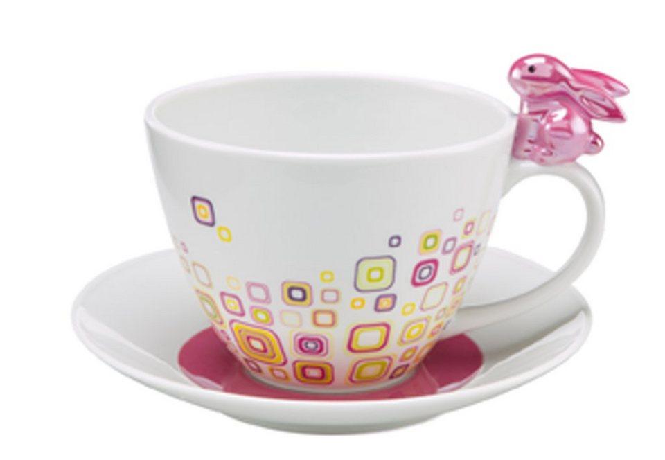 Tasse, »Pink Retro Bunny«, Goebel in bunt