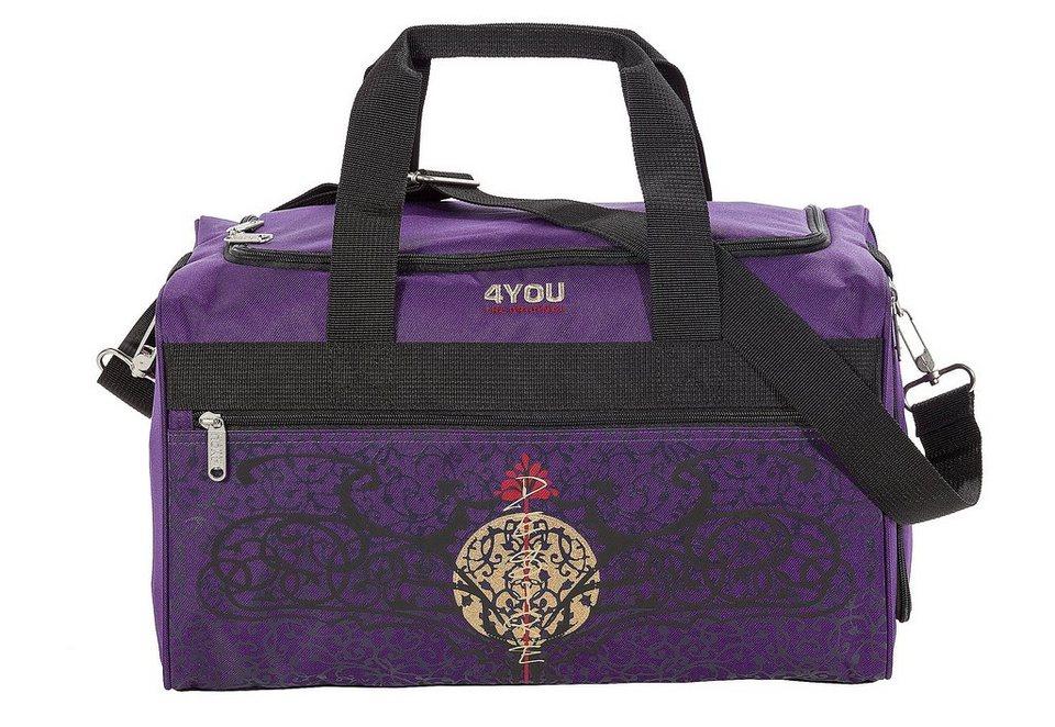 Sportbag Gothic-Motiv auf lila, »Sporttasche M«, 4You in lila