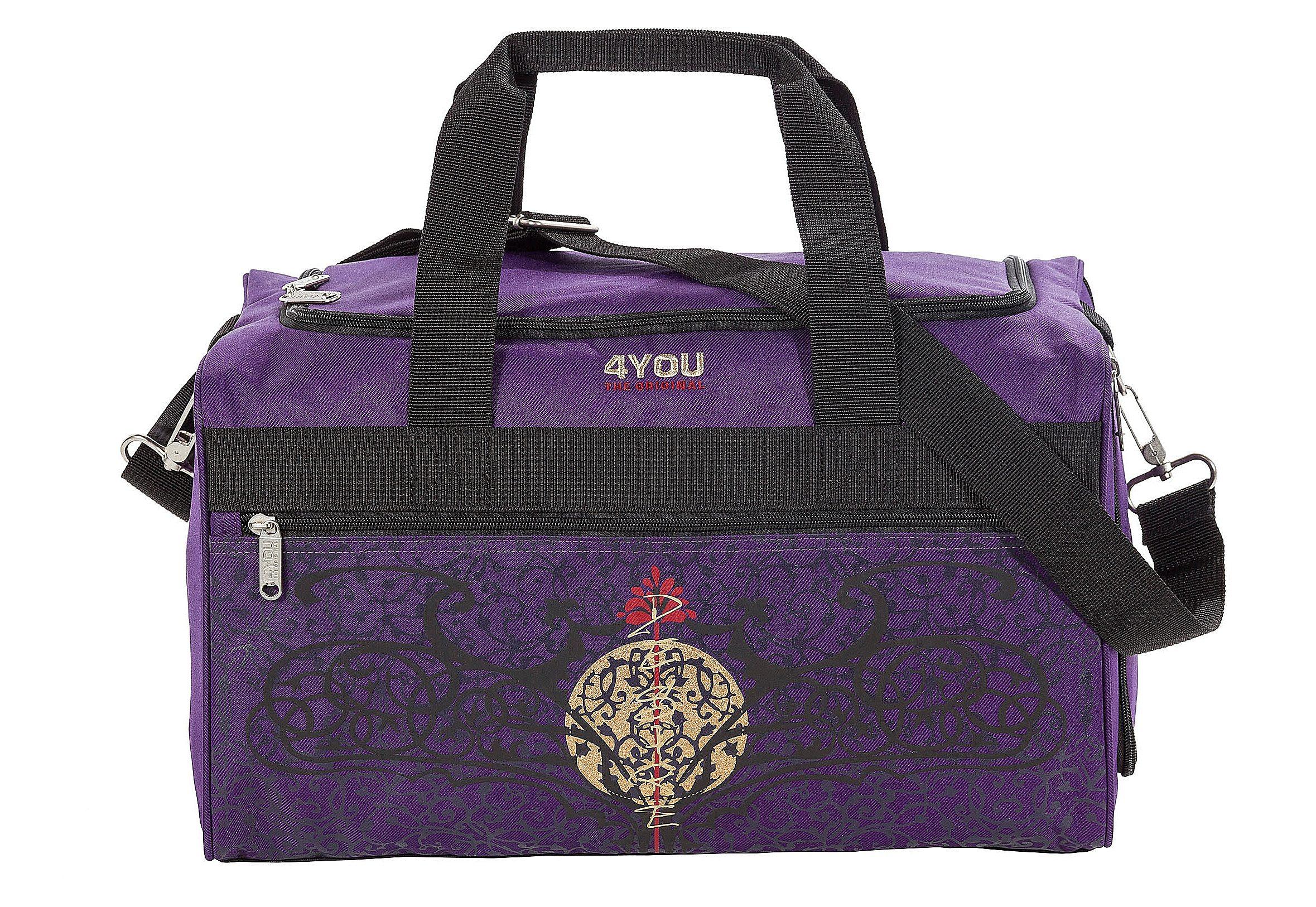 Sportbag Gothic-Motiv auf lila, »Sporttasche M«, 4You