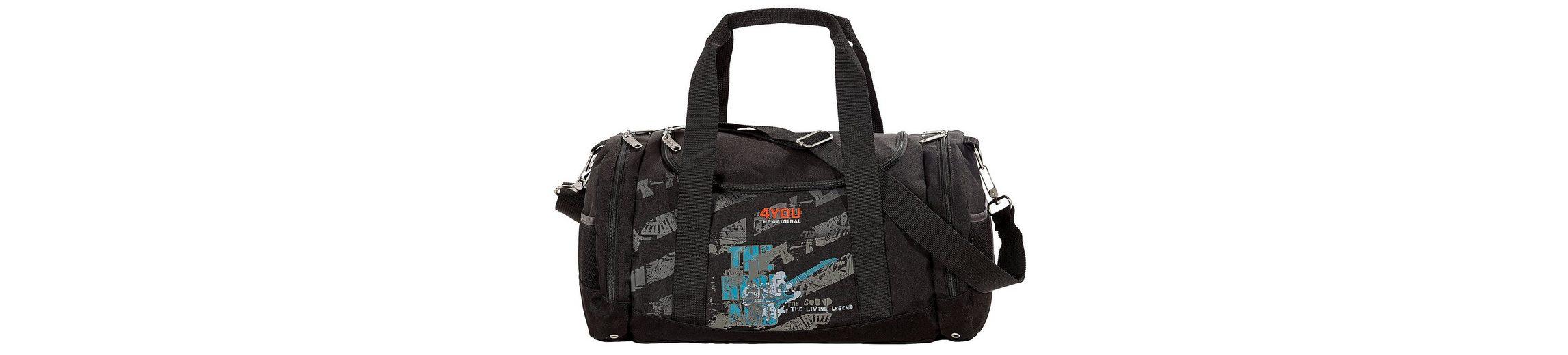 Sporttasche Gitarren-Motiv auf schwarz, »Sportbag Function«, 4YOU