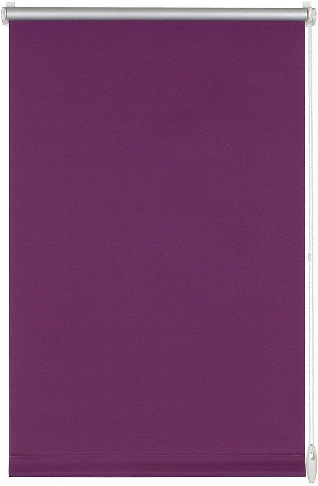 Seitenzugrollo, Gardinia, »Easyfix Thermo«, ohne Bohren, Verdunkelung/Energiesparend (1 Stck.) in thermo lila