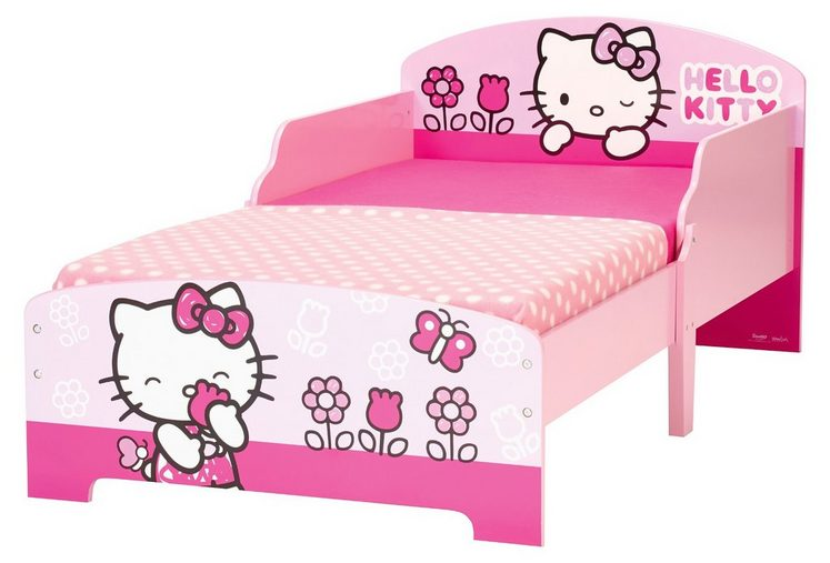 worlds apart kinderbett hello kitty rosa 70 x 140 cm. Black Bedroom Furniture Sets. Home Design Ideas