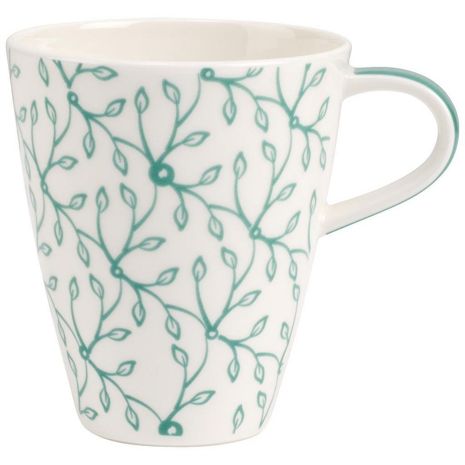 VILLEROY & BOCH Becher mit Henkel »Caffè Club Floral peppermint« in Dekoriert