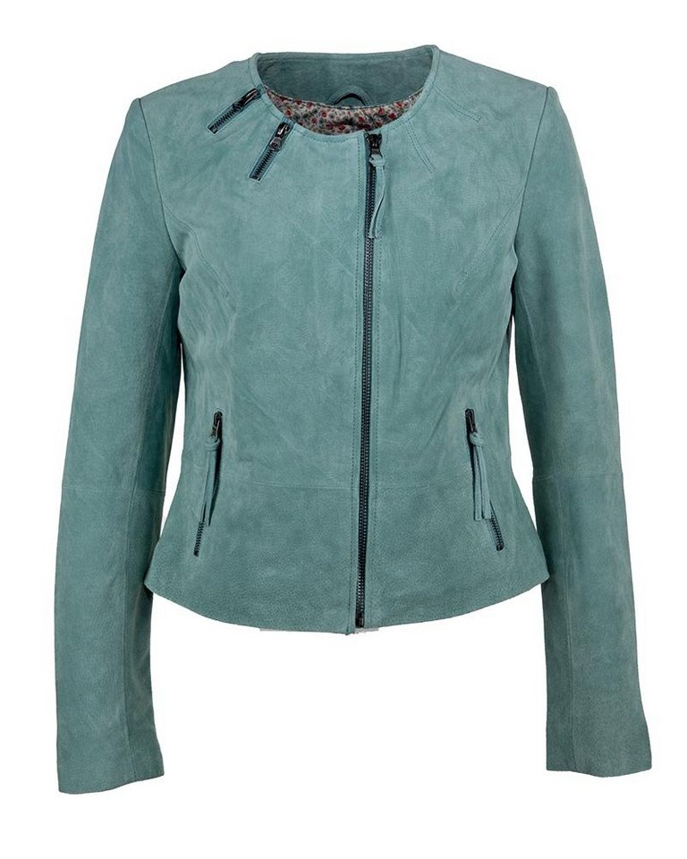 TOM TAILOR Lederjacke, Damen »Bisbee« in mint