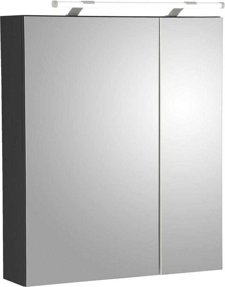 schildmeyer spiegelschrank dorina mit led beleuchtung und glaseinlegeb den online kaufen otto. Black Bedroom Furniture Sets. Home Design Ideas