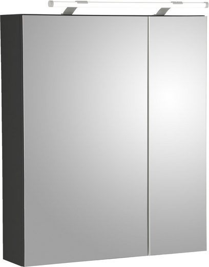 Schildmeyer Spiegelschrank »Dorina« mit LED-Beleuchtung und Glaseinlegeböden