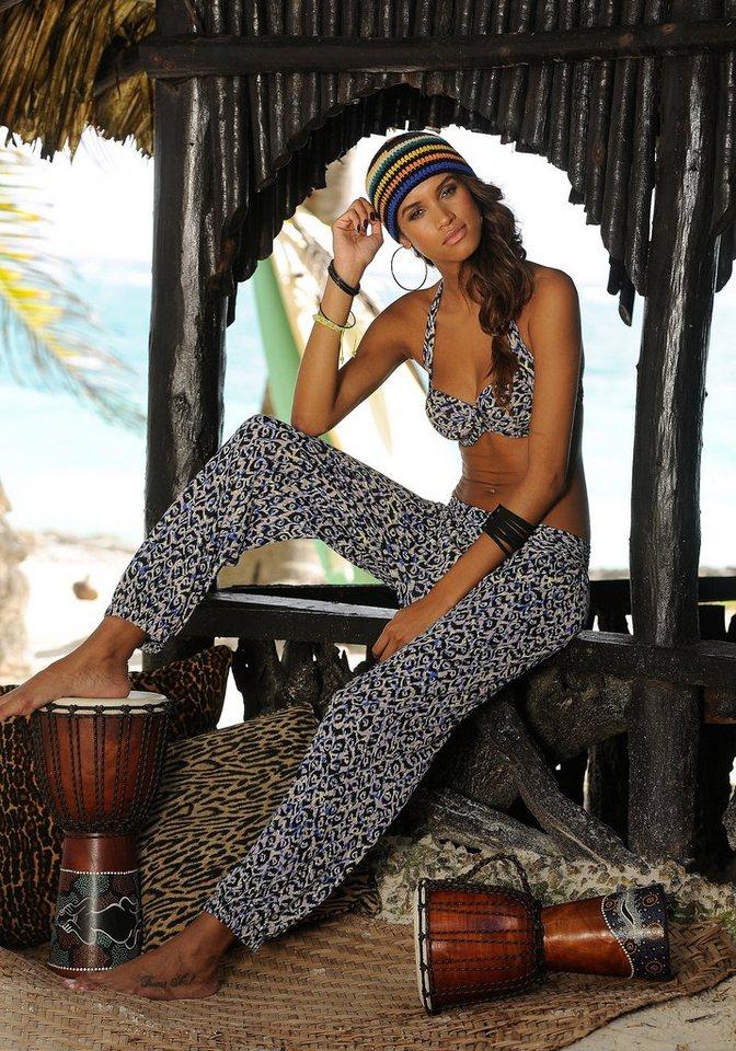 Strandhose, Sunseeker in leo bedruckt
