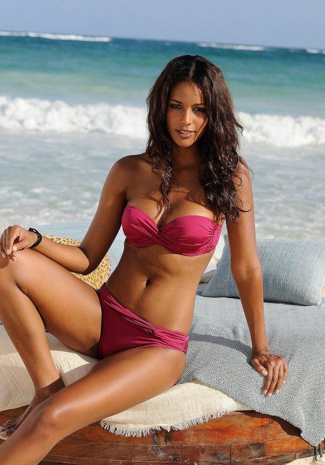 Bademode - LASCANA Bügel Bandeau Bikini mit verschiedenen Trägervarianten › rosa  - Onlineshop OTTO