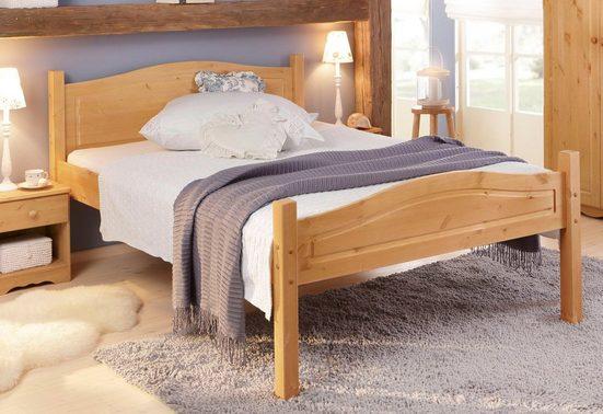 Home affaire Bett »Bolton«, aus schönem massivem Kiefernholz, in unterschiedlichen Größen und Farben