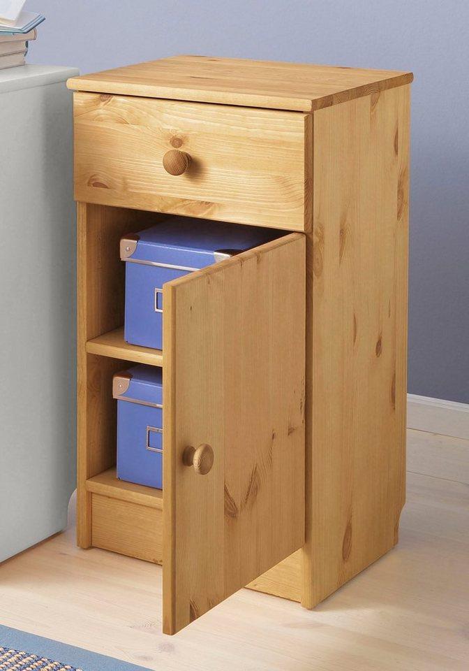 Schreibtischcontainer, Home affaire, »Lasse« in gelaugt geölt