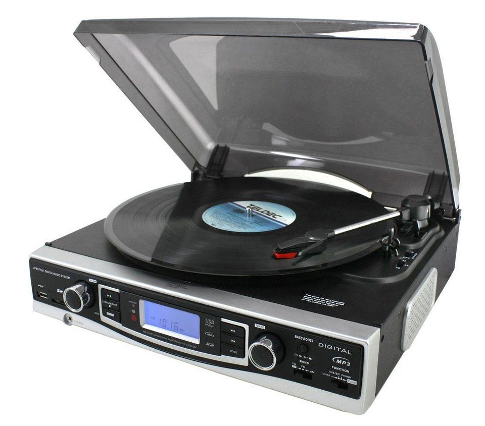 soundmaster Plattenspieler »PL530« in Schwarz