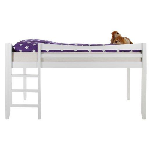 synoun hochbett wei 90 x 200 cm aus holz mit leiter. Black Bedroom Furniture Sets. Home Design Ideas