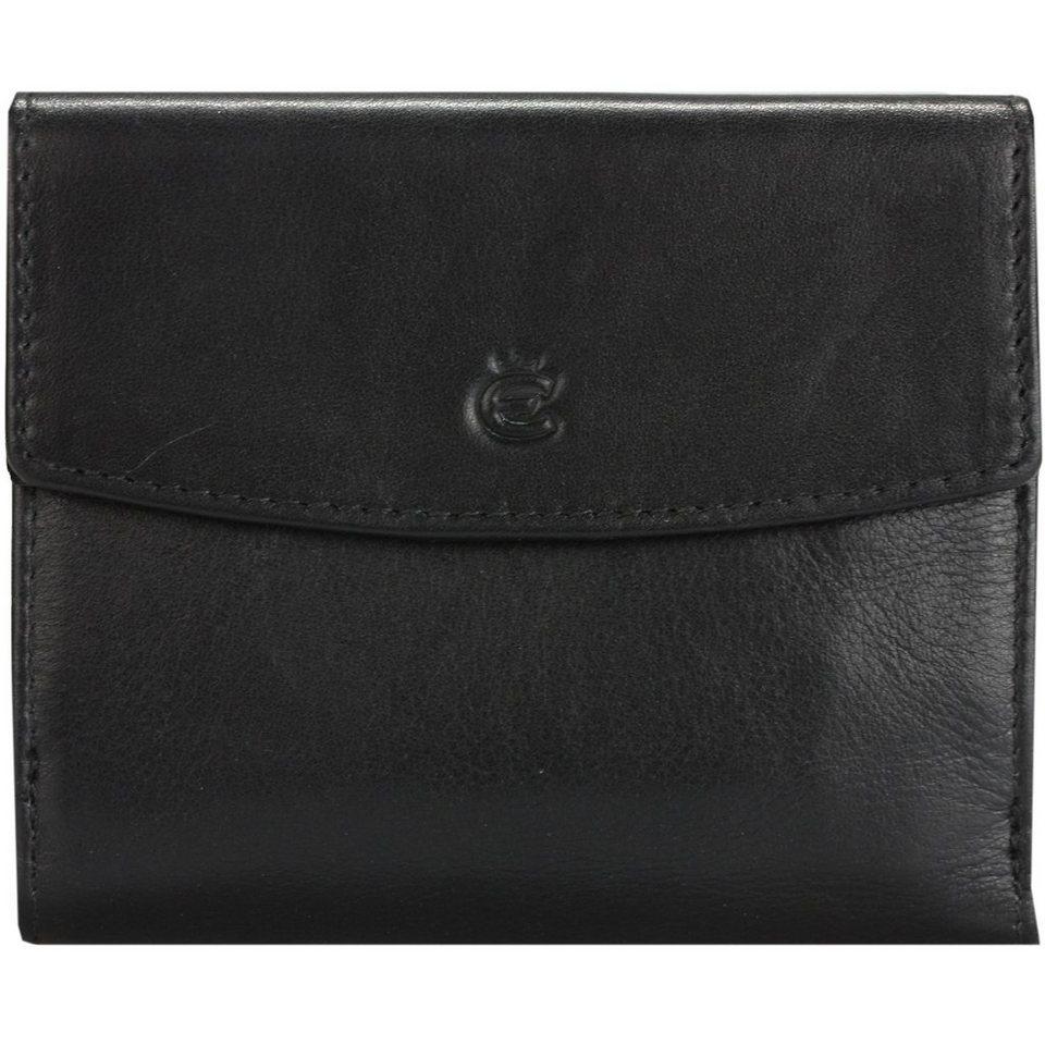 Esquire Eco Geldbörse Leder 10,5 cm in schwarz