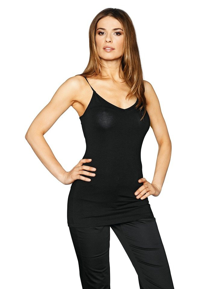 Bodyform-Spaghettitop in schwarz