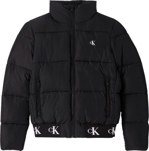 Calvin Klein Jeans Blousonjacke »REPEATED CK HEM LOGO PUFFER« mit CK Logo-Monogrammen am Bund