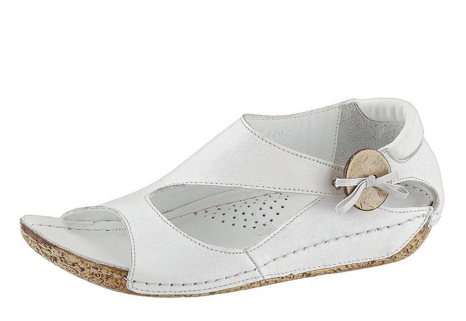 Hush Puppies Sandale mit Gummizug in weiß