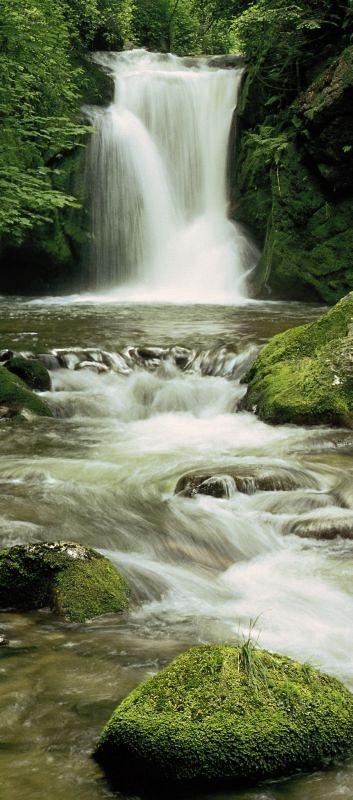 Türposter, Komar, » Ellowa Falls« in grün
