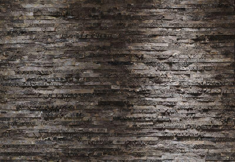 Fototapete, Komar, »Birkenrinde«, 368/254 cm in braun/grau