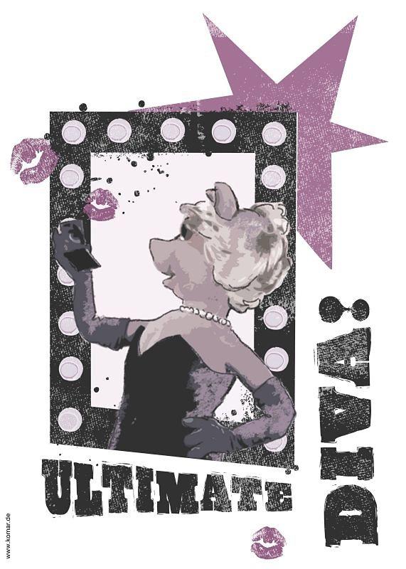 Decosticker, Komar, »Ultimate Diva« in grau/schwarz