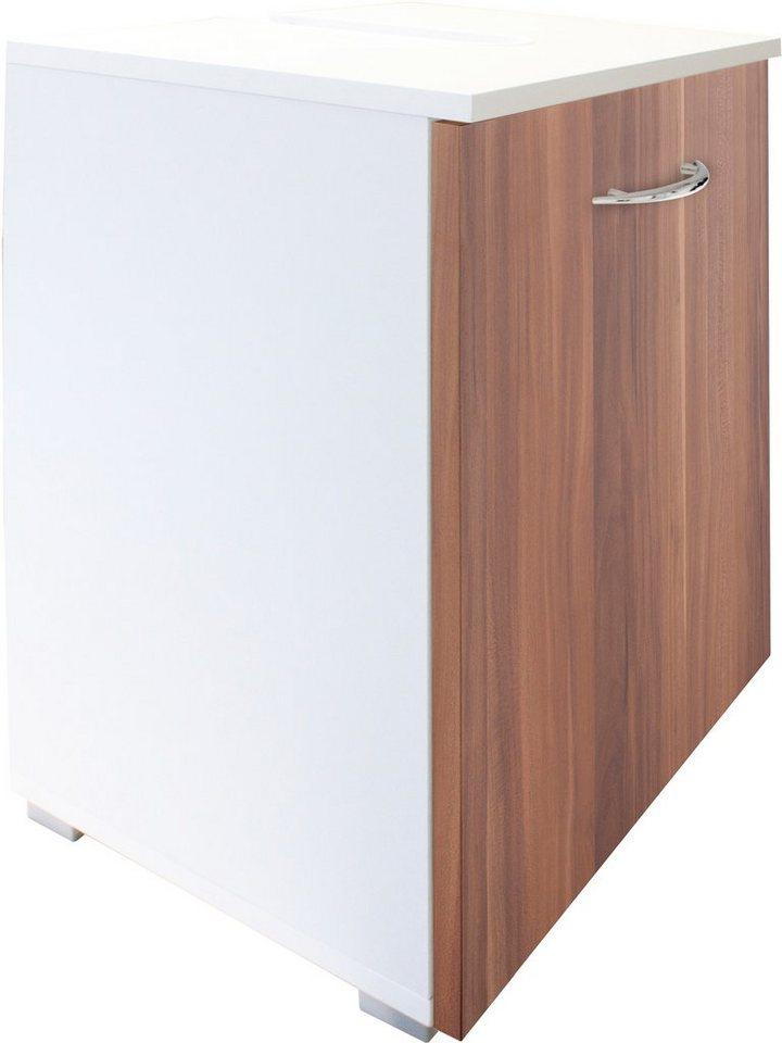 Waschbeckenunterschrank, Kesper, »Trent« in weiß-Kernnussbaumfarben