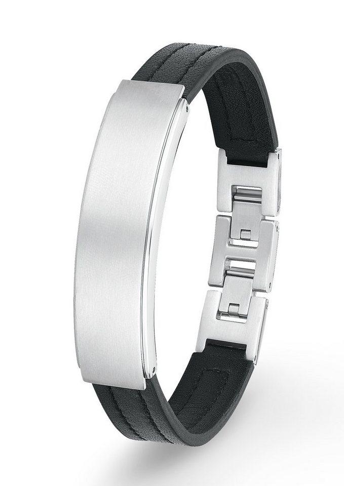 Armband, »SO1092/1«, s.Oliver in silberfarben/schwarz