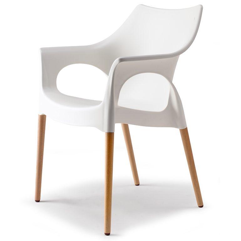 SalesFever Designer Stuhl mit Holzbeinen Linen »Natural Ola«