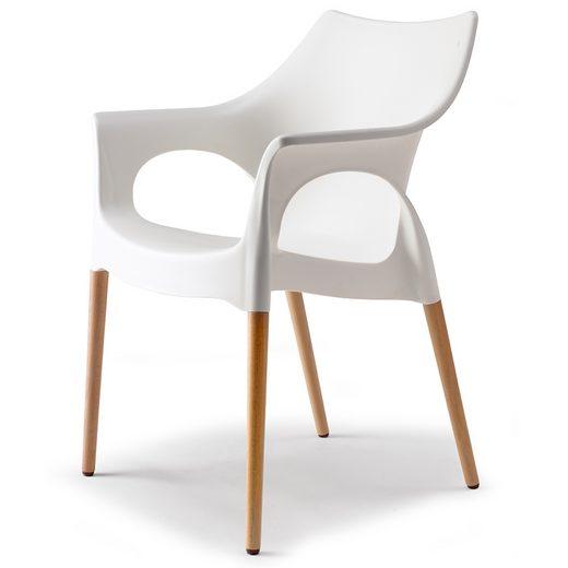 salesfever designer stuhl mit holzbeinen linen natural. Black Bedroom Furniture Sets. Home Design Ideas