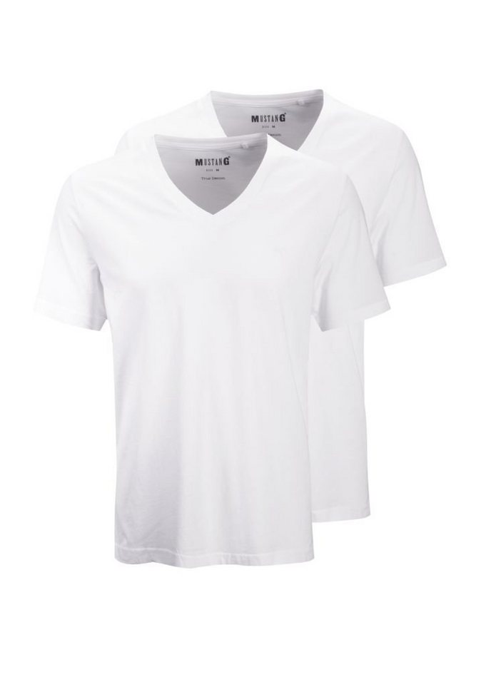 MUSTANG T-Shirt in schwarz
