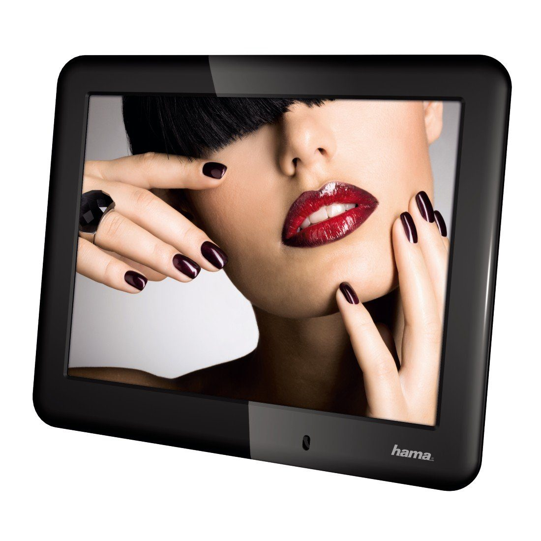Hama Digitaler Bilderrahmen extra flach, 20,32 cm (8 Zoll) »USB SD SDHC MMC Fernbedienung«