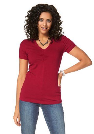 Boysen's T-Shirt (Packung, 2er-Pack), mit Raffung