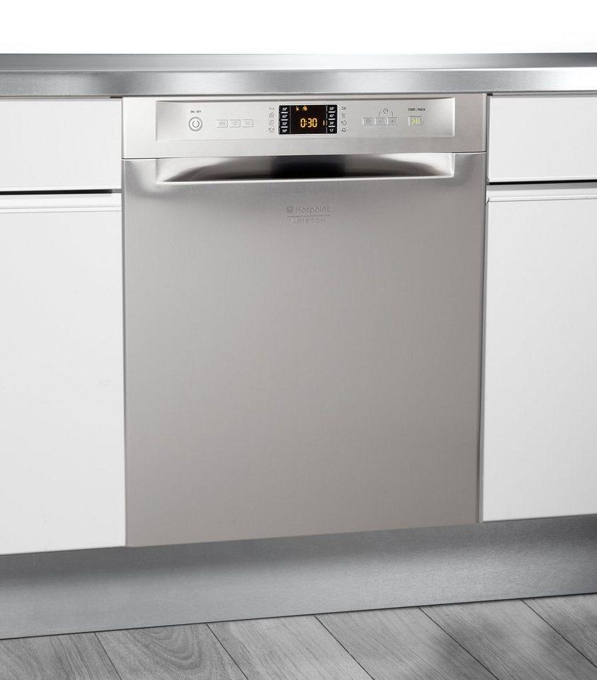 Hotpoint Unterbau-Geschirrspüler LFF 8M121 CX DE/SK, A++, 9 Liter, 14 Maßgedecke in Edelstahl
