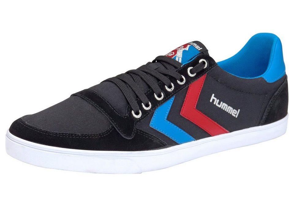 Hummel Sneaker »Slimmer Stadil Canvas Low« in schwarz-blau