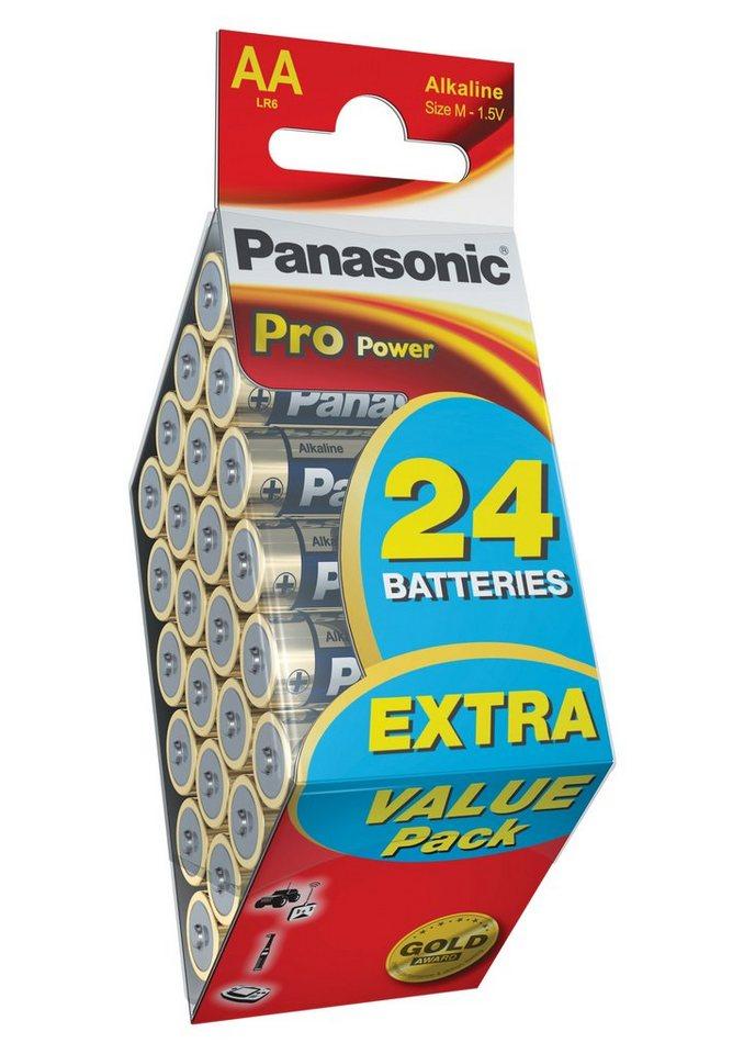 Batterien, Pro Power, »Mignon / AA / LR6 / 24 Stück«, Panasonic