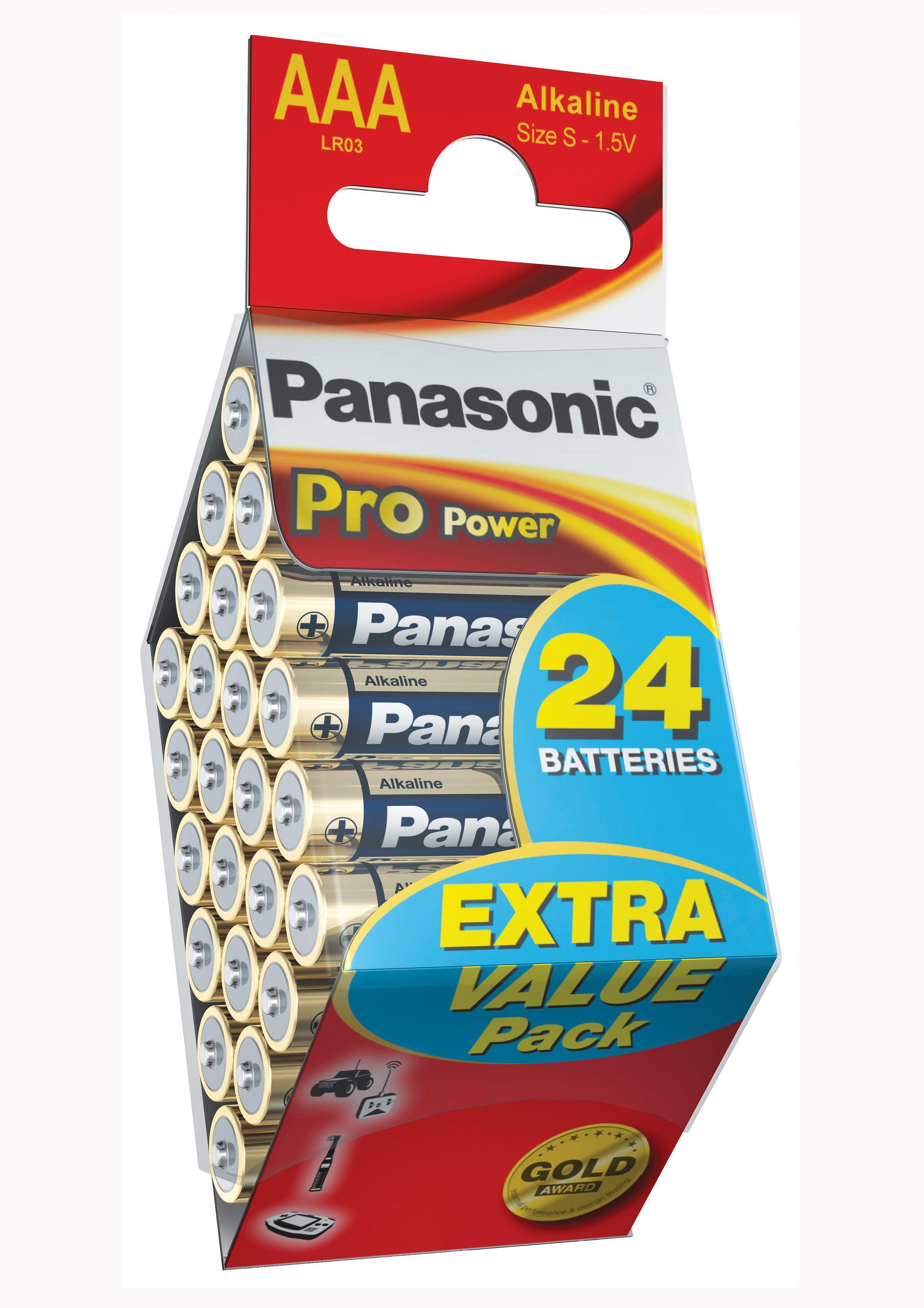 Panasonic, Batterien, Pro Power, »Mikro / AAA / LR3 / 24 Stück«