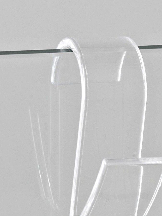 heine home Heizkörperhaken, 4er-Set in transparent