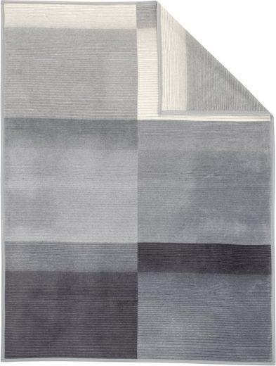Wohndecke »Blacky«, IBENA, mit dezenten Streifen