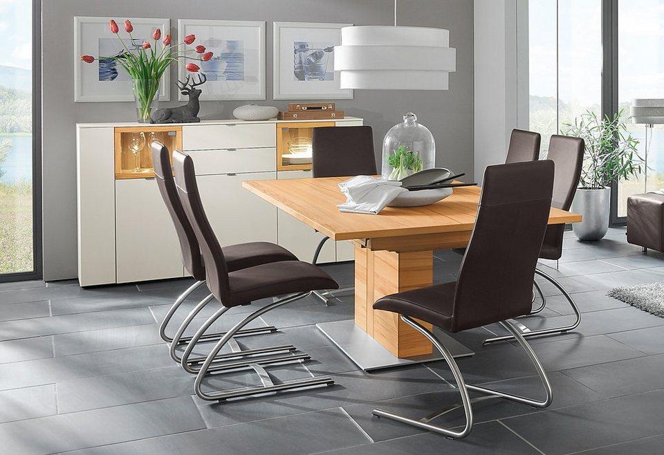 venjakob s ulen kulissentisch mit synchronauszug andiamo edelstahl breite 220 cm online. Black Bedroom Furniture Sets. Home Design Ideas