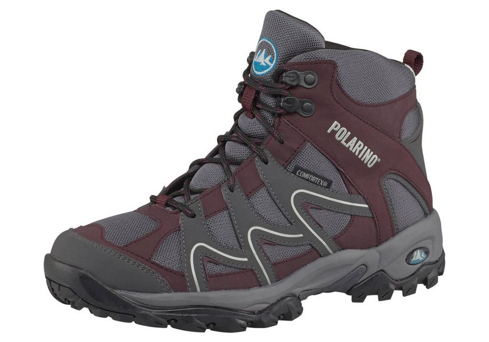 Polarino Trail High Outdoorschuh in Bordeaux-rot