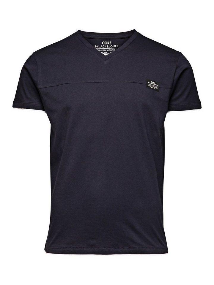 Jack & Jones Plain T-shirt in Black Navy