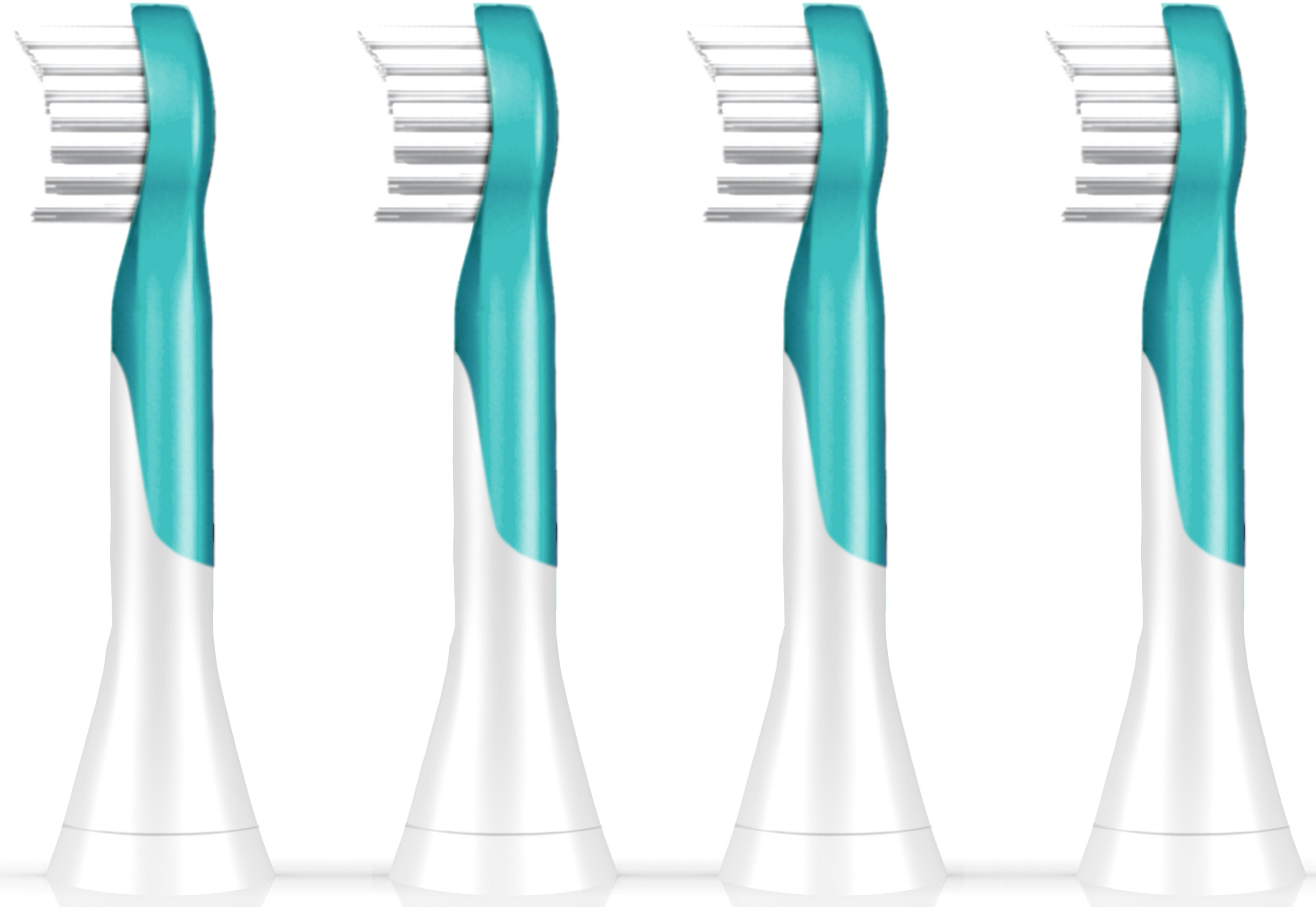 Philips Sonicare Ersatzbürsten HX6034/33 Sonicare For Kids, 4er Pack