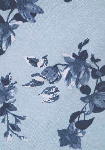 Boysen's V-Shirt, mit Spitze und Blumendruck