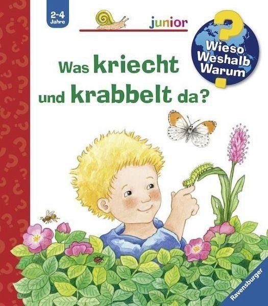 Buch mit Papp-Einband »Was kriecht und krabbelt da? / Wieso? Weshalb?...«