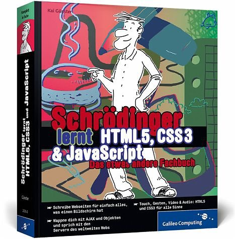 Broschiertes Buch »Schrödinger lernt HTML5, CSS3 & JavaScript«