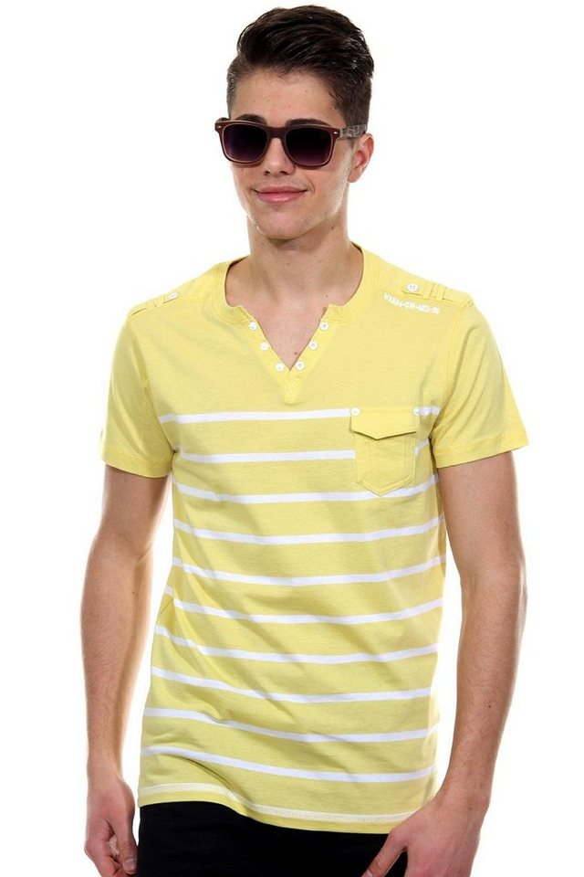 MCL Henley T-Shirt regular fit in gelb