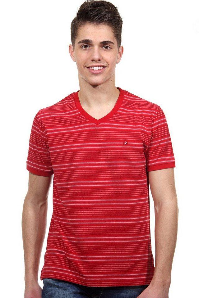 MCL T-Shirt V-Ausschnitt regular fit in rot