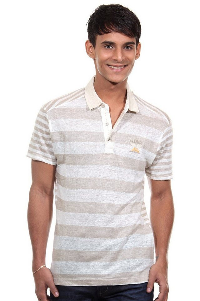 MCL Poloshirt regular fit in braun
