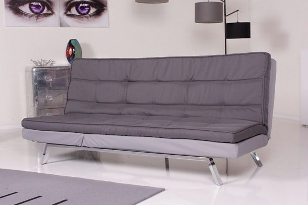 Kasper-Wohndesign Relax Schlafsofa Starlight Bettsofa Stoff grau und hellgrau »KAWOLA«