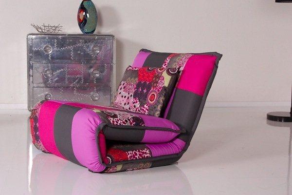 Kasper-Wohndesign Relax Schlafsessel Billy Patchwork Stoff »KAWOLA«